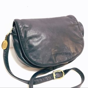 Vintage STONE MOUNTAIN Blue Crossbody Made in USA
